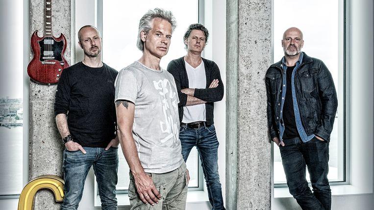Bløf, met van links naar rechts: Peter Slager, Norman Bonink, Bas Kennis en Paskal Jakobsen. Beeld Patrick Post