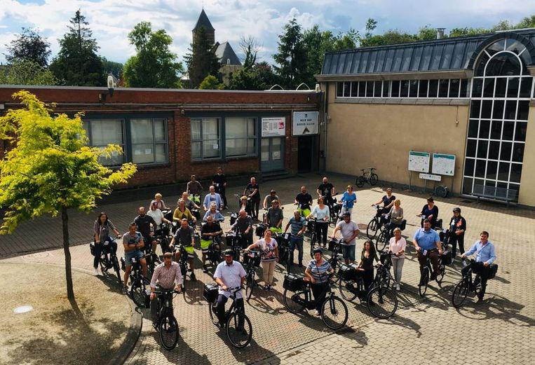 Elektrische fietsen in Sint-Lievens-Houtem.