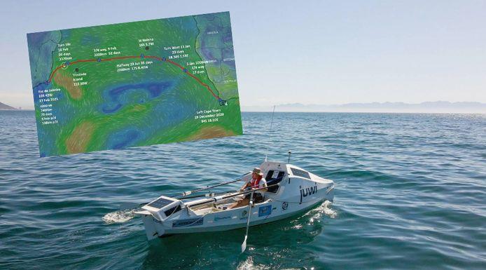 Zirk Botha a parcouru les 7.200 kilomètres de voyage en mer sans l'aide d'un navire.