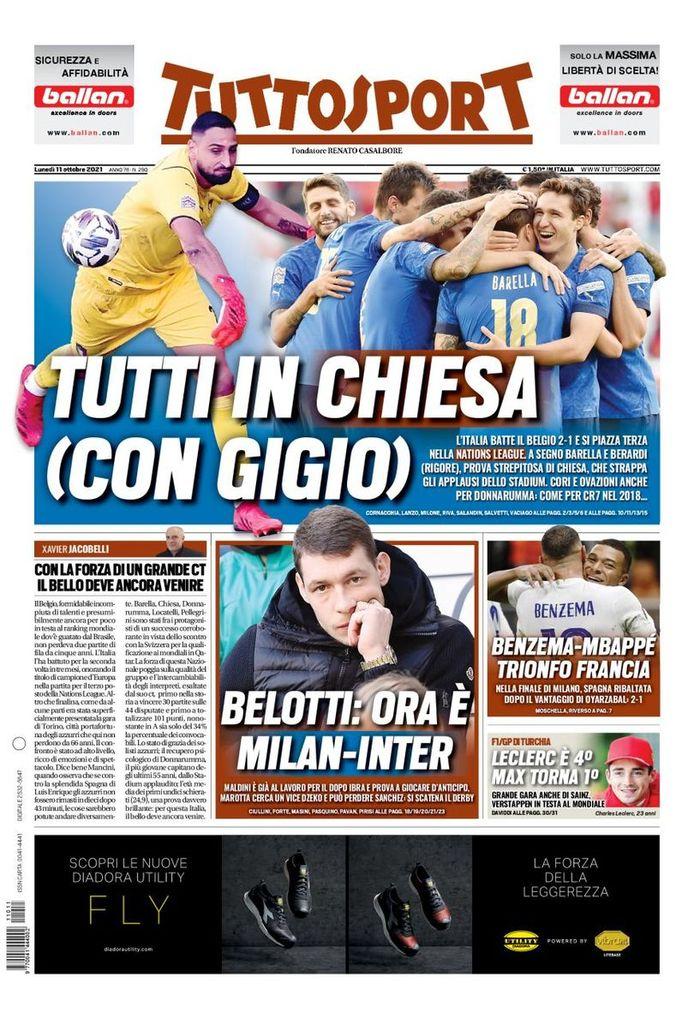 Halaman depan Tuttosport.