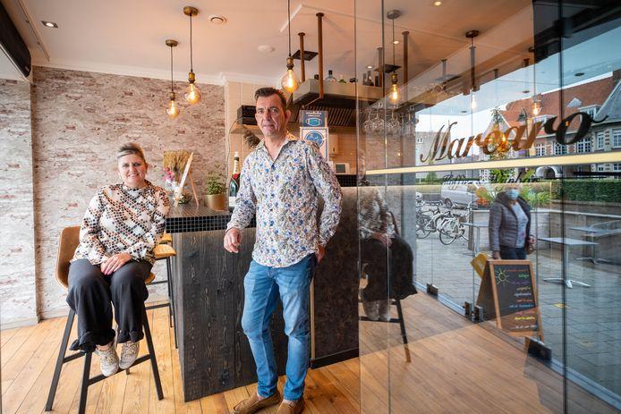 HEIST-OP-DEN-BERG Mariane Verlinden en Mario Schellens van wijn- en koffiebar Marcaro in de Bergstraat