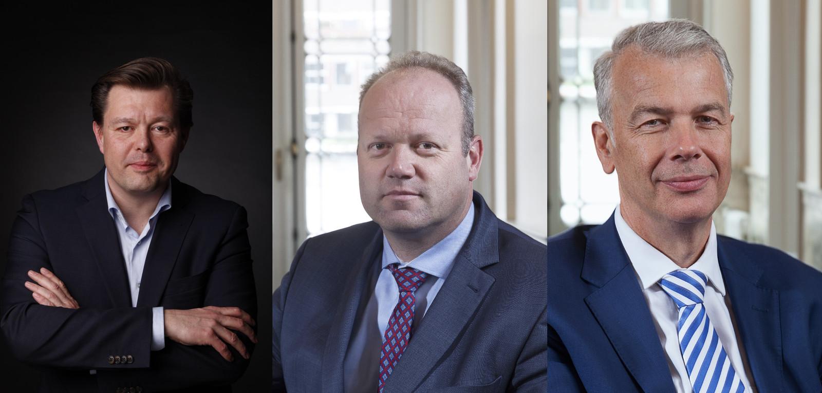 Kees Kraanen (VVD), Menno Tigelaar (ChristenUnie) en Hans Buijtelaar (VVD).