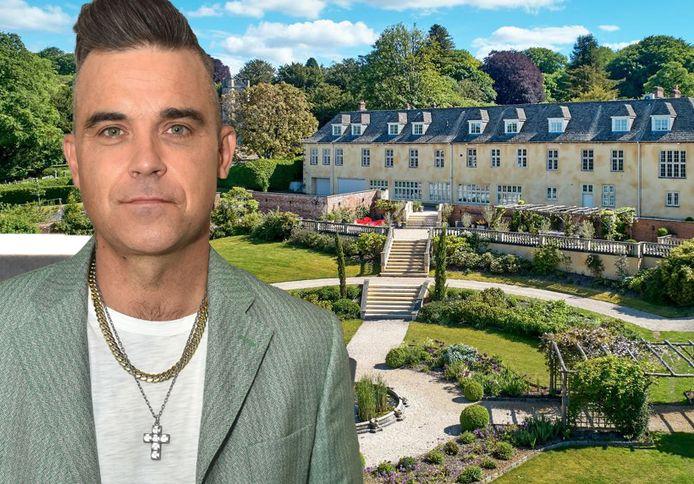 Robbie Williams zet z'n landhuis te koop voor bijna 8 miljoen euro.
