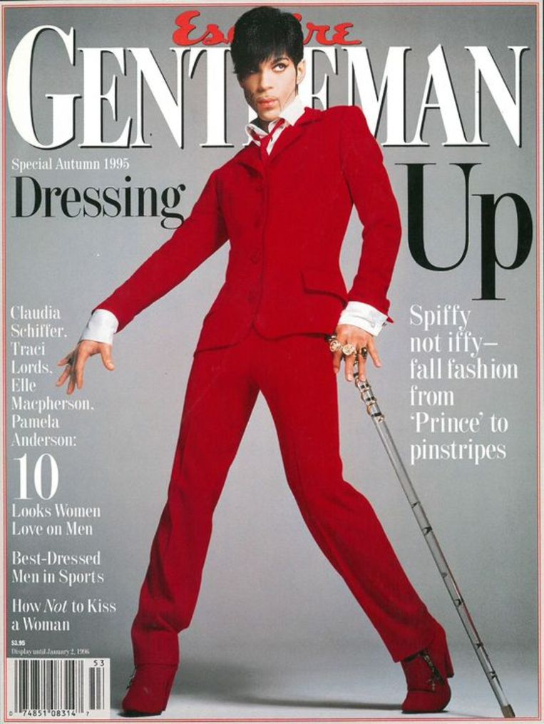 Prince op de cover van Esquire, 1995. Beeld Esquire
