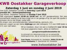 KWB Oostakker organiseert garageverkoop
