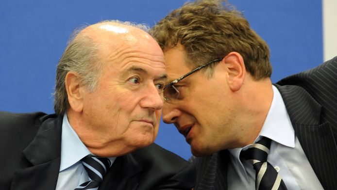 Sepp Blatter en Jérôme Valcke in betere tijden.