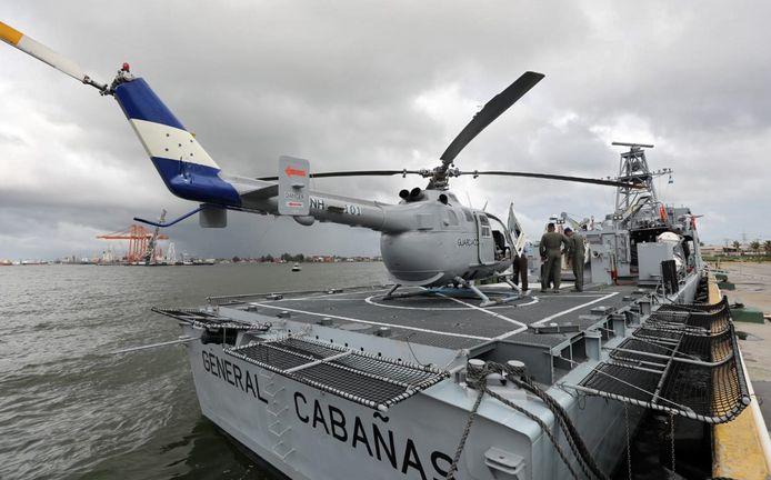 De militaire patrouilleboot die Honduras van Israël kocht en vrijdag officieel werd overgedragen.