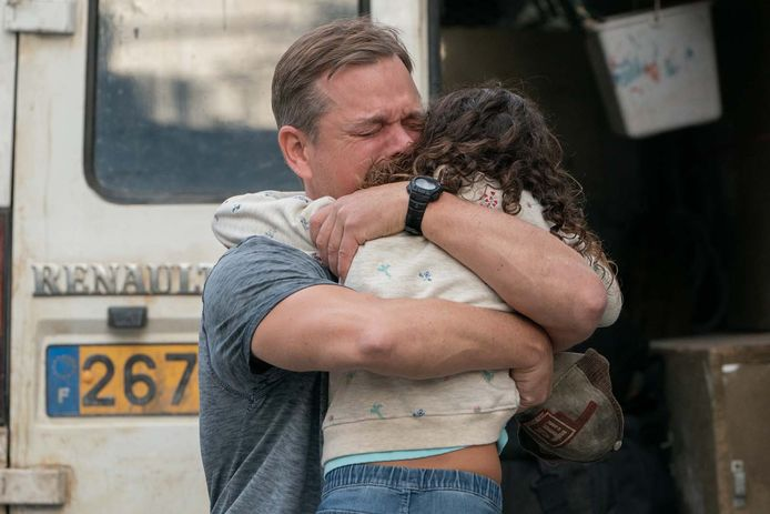 Matt Damon et Lilou Siauvaud dans Stillwater.