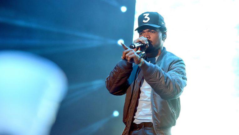 Chance The Rapper in Los Angeles op 12 november 2016. Beeld getty