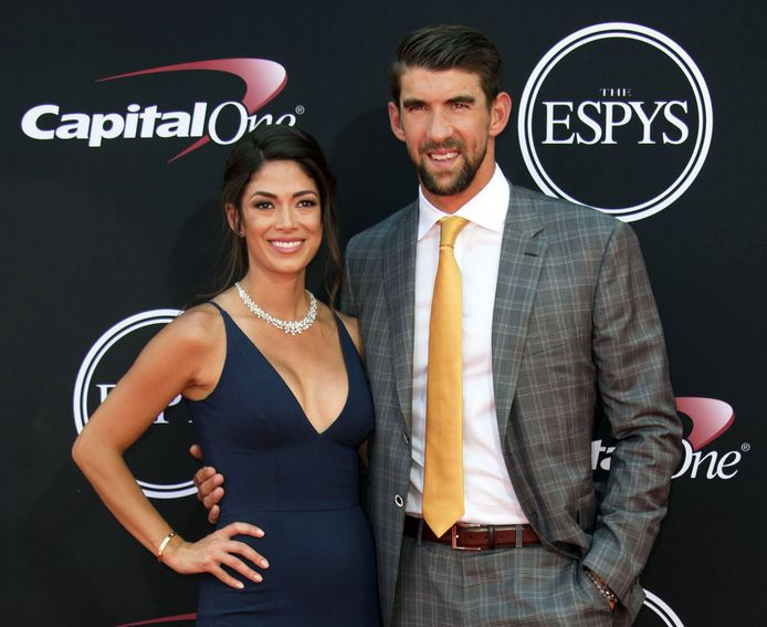 Nicole Johnson en Michael Phelps.