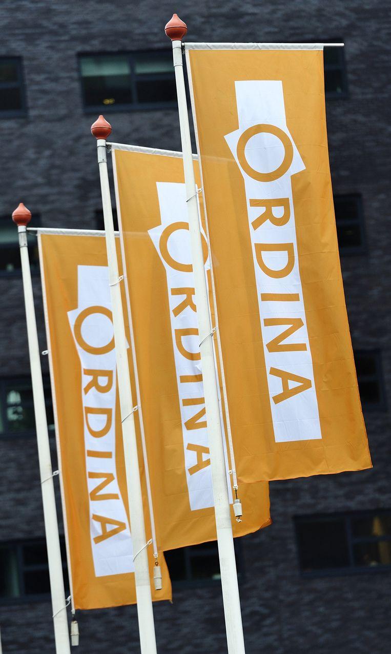 Vlaggen bij het hoofdkantoor van Ordina. Beeld anp
