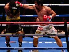 Pacquiao slaat bij rentree wereldkampioen Matthysse KO
