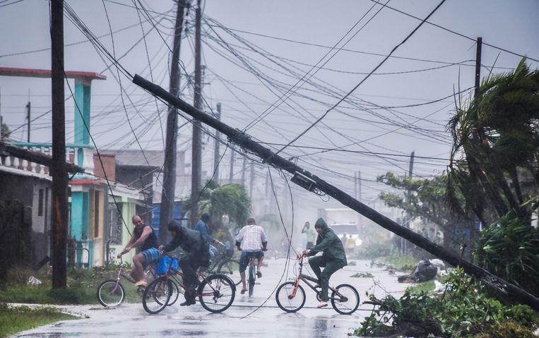 Irma zorgde voor heel wat ravage in Cuba. Ook Miami wordt geteisterd. Beeld AFP