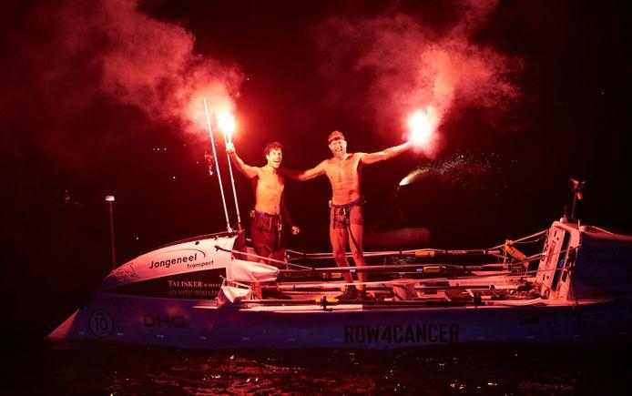 Mark Slats en Kai Wiedmer kwamen vanmorgen aan in Antigua