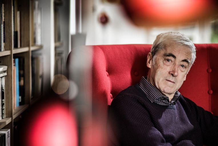 Professor economie Paul De Grauwe is scherp voor Donald Trump. Beeld Bob Van Mol