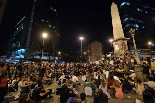 Een vreedzame betoging vrijdag in Belo Horizonte.
