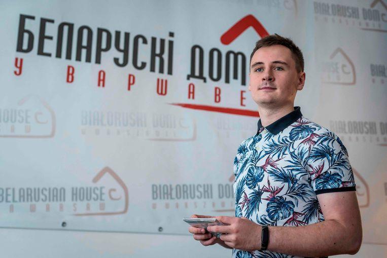 Stepan Putilo, ook bekend als Stepan Svetlov, in Warschau. Beeld AFP