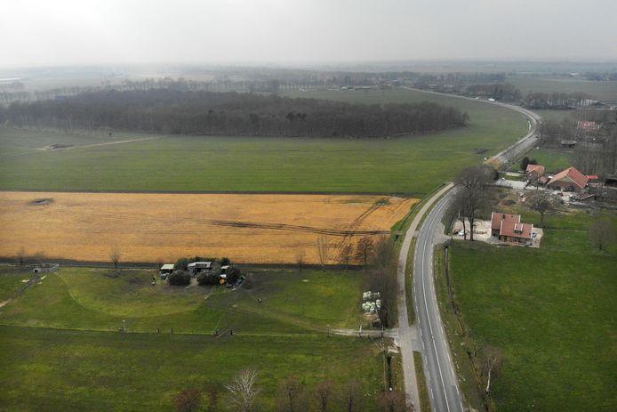 Dit is de buurtschap Weitemanslanden, waar de gemeente windturbines wil plaatsen.