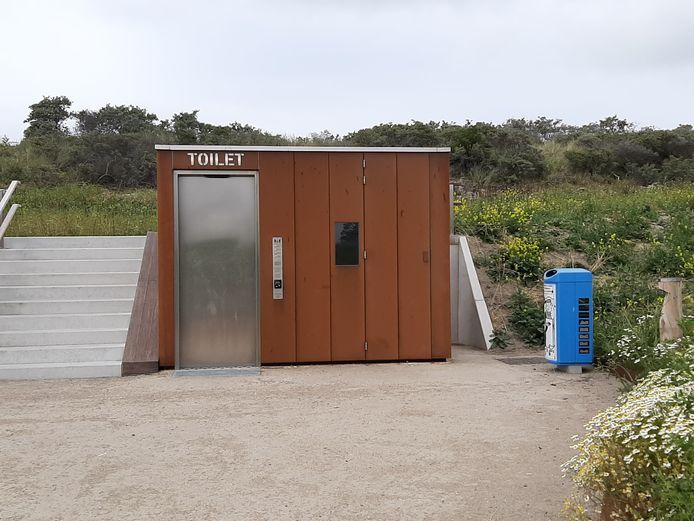 Het nieuwe, zelfreinigende toilet bij de Banjaard