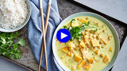 Deze herfstgroente is het perfecte basisingrediënt voor een one-pot vegetarische curry