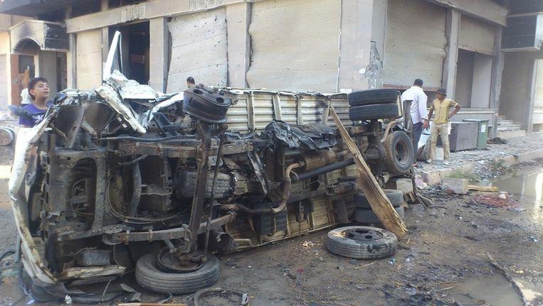 Chaos in Al-Mahata Beeld reuters