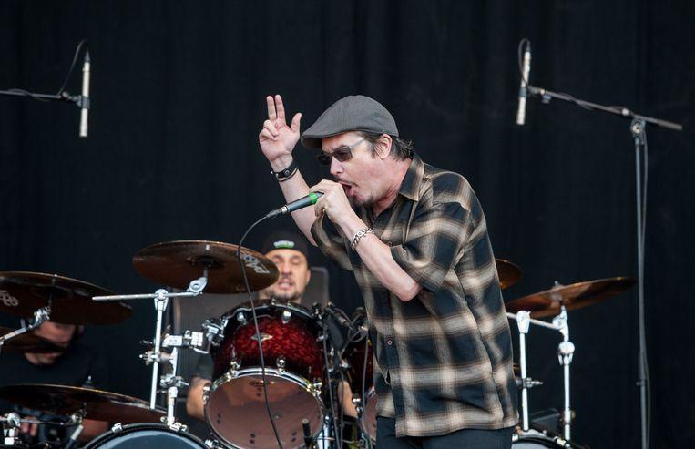 Mike Patton en Dave Lombardo eerder deze maand op het Engelse Download Festival.