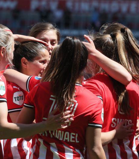 Voetbalsters PSV kloppen kampioen FC Twente en gaan weer de Champions League in