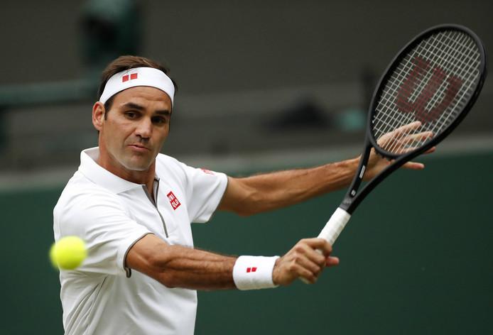 Roger Federer: bijna 38 jaar, maar toch nog amper te verslaan op gras.