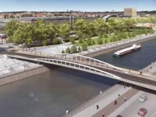 Les premières images du pont piétonnier qui enjambera le canal de Bruxelles