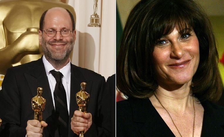 Producer Scott Rudin en Sony-topvrouw Amy Pascal. Beeld null