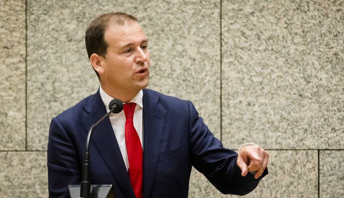 PvdA-fractieleider Lodewijk Asscher tijdens de Algemene Politieke Beschouwingen in de Tweede Kamer.