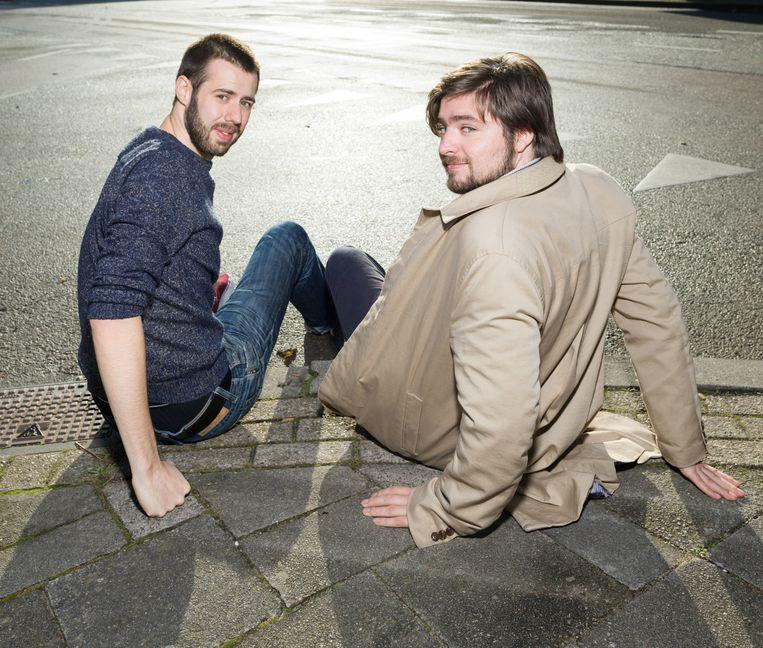 Regisseur Ivo van Aart en scenarioschrijver Daan Windhorst in Utrecht. Beeld Ivo van der Bent