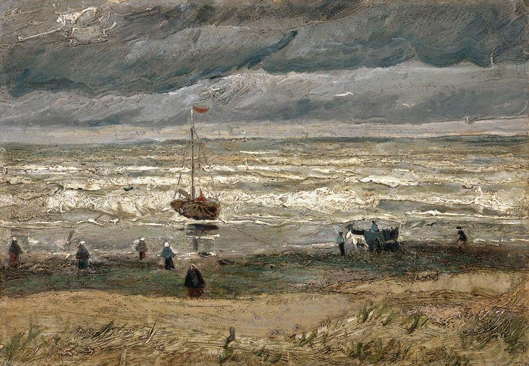 'Zeegezicht bij Scheveningen' (1882) is een van de door Durham gestolen werken. Beeld AP