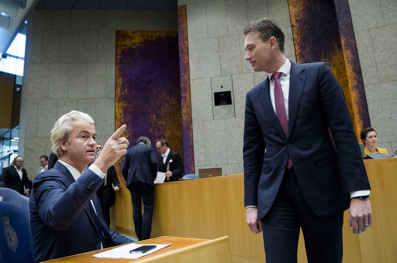 Geert Wilders (PVV) en Halbe Zijlstra (VVD)