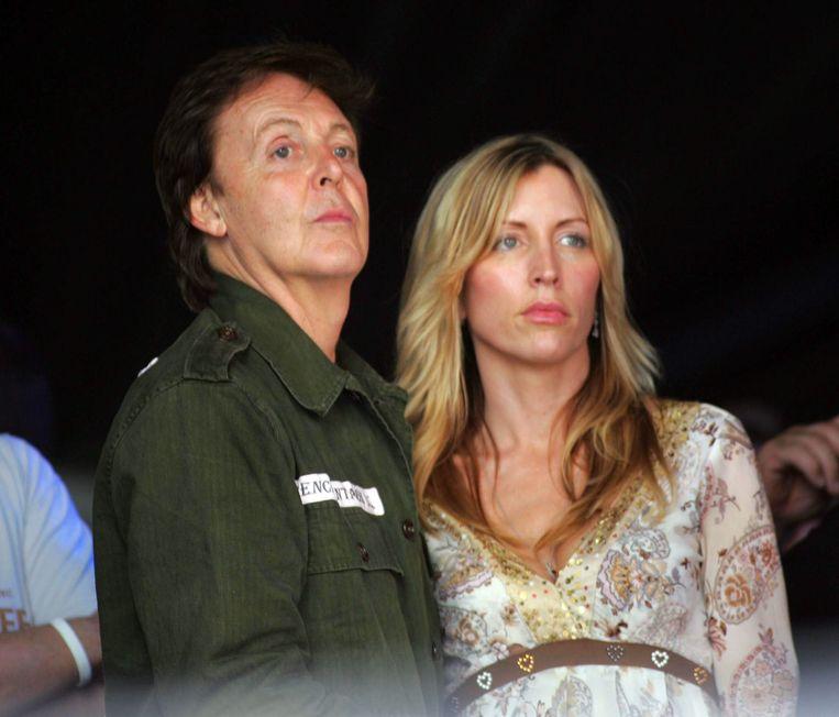 Paul McCartney en zijn tweede vrouw Heather