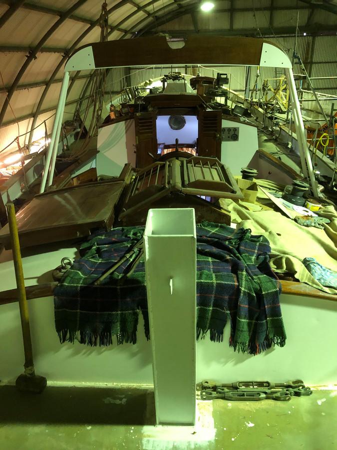 De Askoy 2, waarmee Jacques Brel een wereldreis maakte.