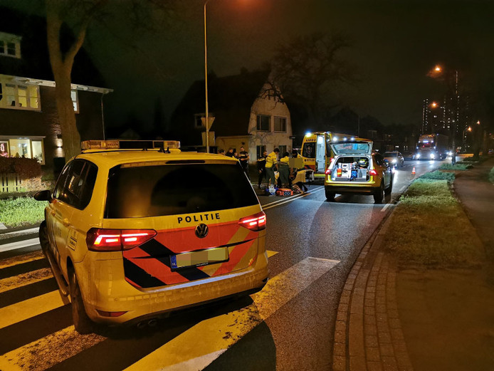 Hulpverlening na de aanrijding in Wageningen.
