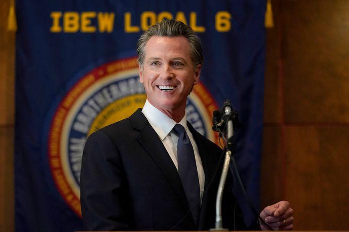Gouverneur Gavin Newsom.