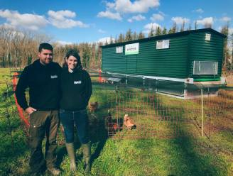 """Hippe kippenboeren Jan en Melissa kiezen voor een kippenkar: """"Echte zon en echt gras voor onze dieren"""""""