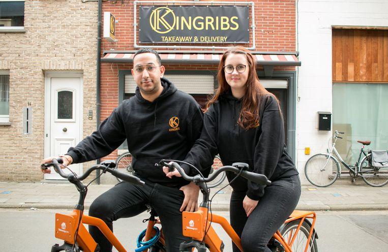 De oprichters van KingRibs: Alladin Zeidan en zijn vrouw Cheyen.