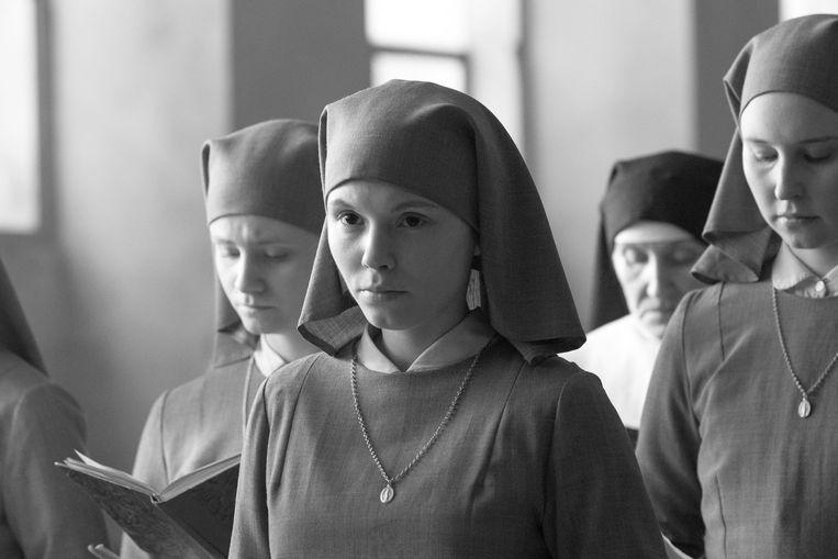 Agata Trzebuchowska in 'Ida'. Beeld