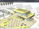 Impressie van de nieuwe sporthal en het schoolplein annex sportterrein dat in augustus 2019 klaar moeten zijn.
