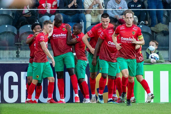 KV Oostende speelde 2-2 thuis tegen Anderlecht.