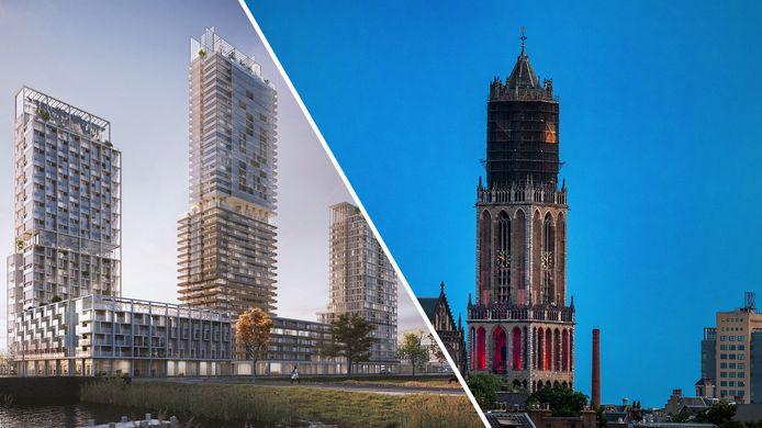 Woontoren MARK wordt 140 meter hoog, dat is hoger dan de Domtoren (112 meter).