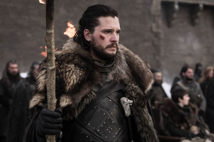 Kit Harington als hoofdpersonage Jon Snow in 'Game Of Thrones'.
