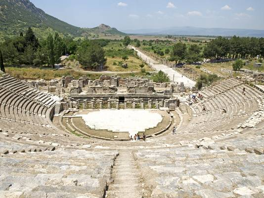 Het prachtige amfitheater in Efese.