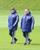 Zeljko Petrovic en Dick Advocaat bij Sunderland.