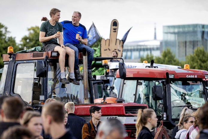 Boeren demonstreren op het Malieveld tegen het stikstofbeleid van het kabinet.