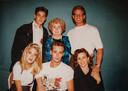 Met de cast van 'Beverly Hills 90210'.