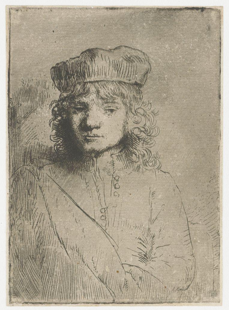 Titus, de zoon van de kunstenaar, Rembrandt van Rijn, 1654 - 1658. Beeld null